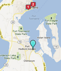 Map of Port Hadlock, WA hotels