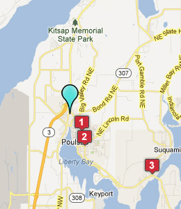 Map of Poulsbo, WA hotels