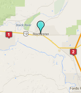 Map of Rochester, WA hotels