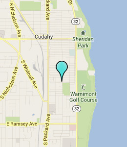 Map of Cudahy, WI hotels
